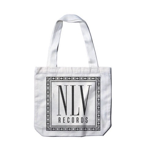 NLV Records Official Merch - NLV Tote Bag (White)