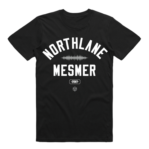 Mesmer Varsity Tee (Black) + Digital Download
