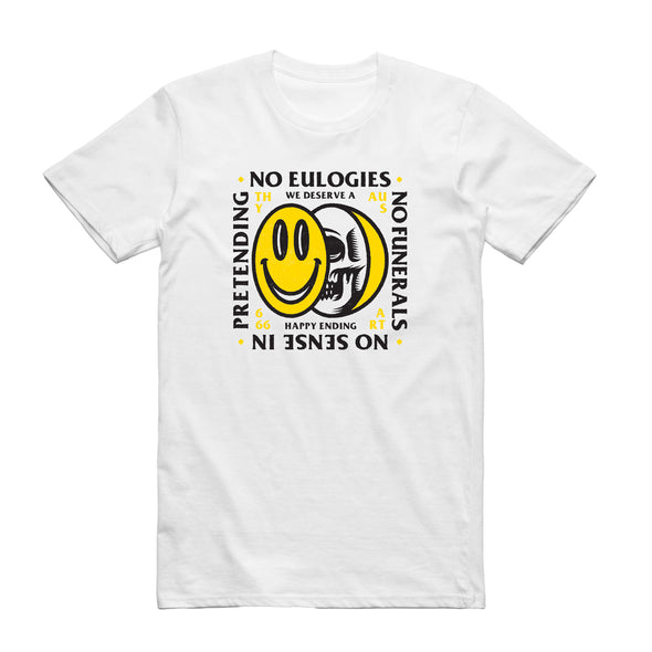 No Eulogies Tee (White)