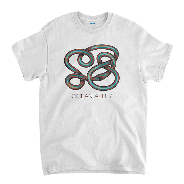 Red & Blue Snake Tee (White) // PREORDER