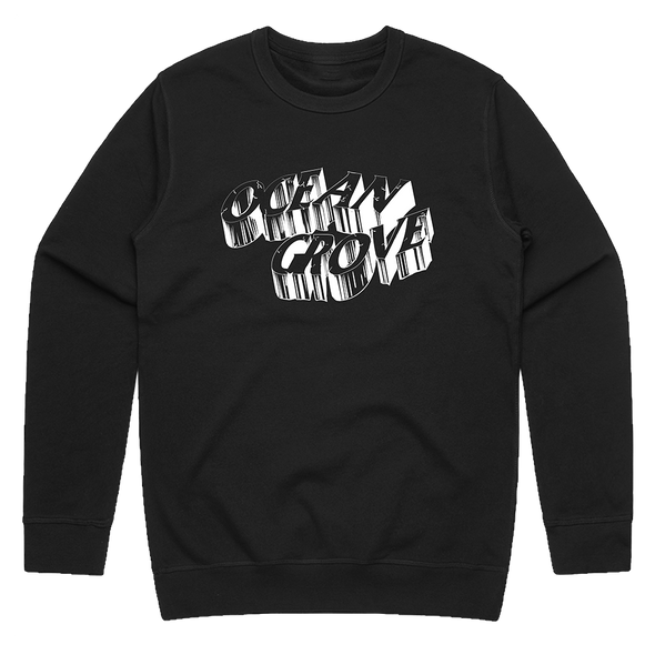 Cracked Logo Crewneck (Black)
