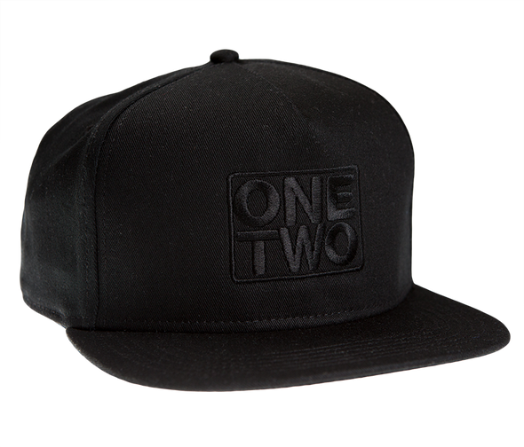 Black On Black Embroidered Snapback