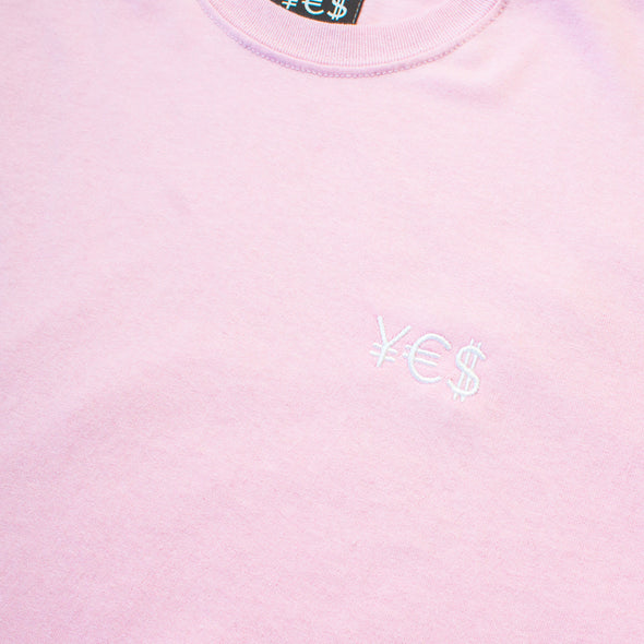 ¥€$ Embroidered Tee (Pink)