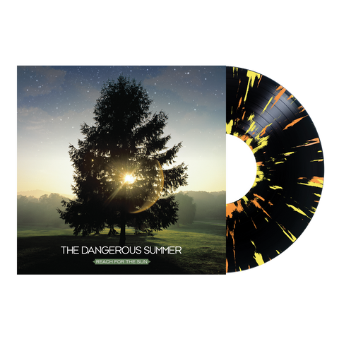 "The Dangerous Summer Official Merch - Reach For The Sun 12"" Vinyl (Black w/ Yellow + Orange Splatter)"
