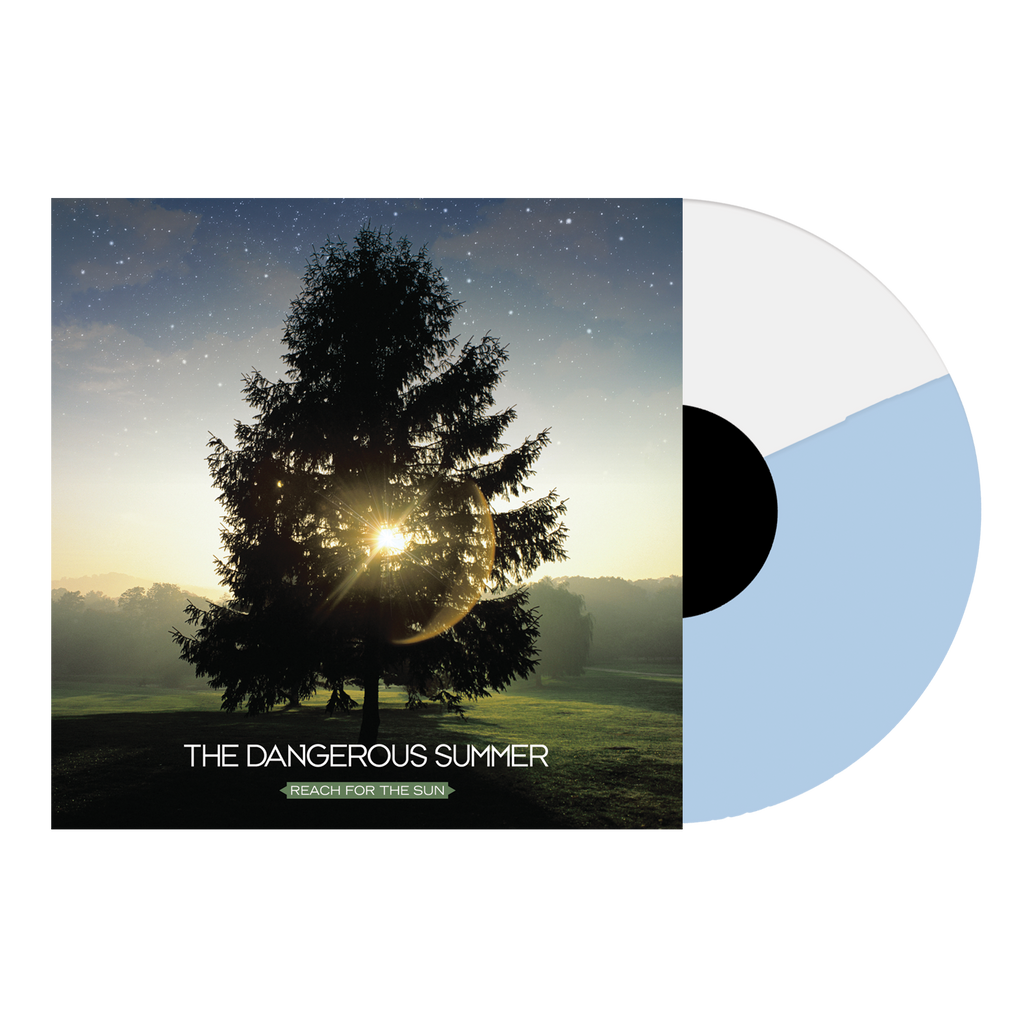 "The Dangerous Summer Official Merch - Reach For The Sun 12"" Vinyl (White + Light Blue Half/Half)"