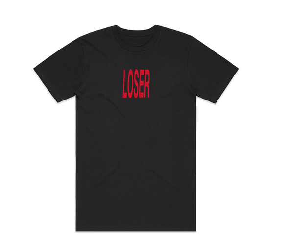 Loser Red Logo Tee (Black)
