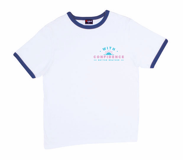 With Confidence Official Merch - Better Weather Ringer Tee