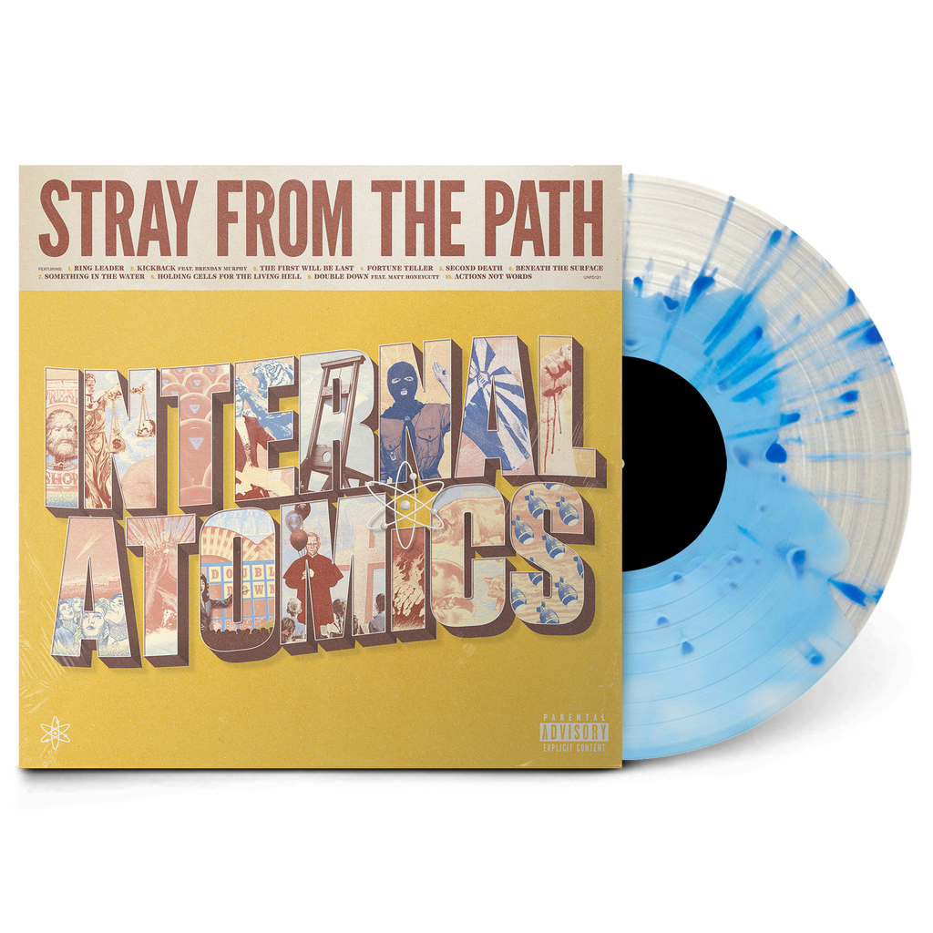 "Internal Atomics 12 "" Vinyl (Clear with Blue Splatter)"