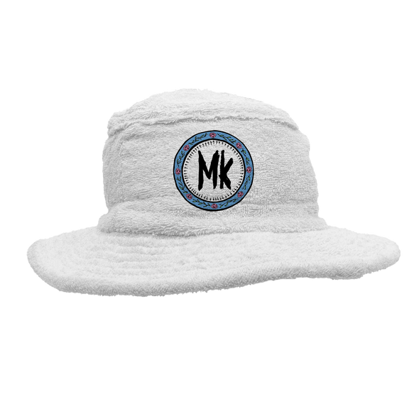 White MK Terry Towelling Hat