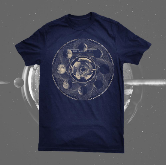 The Word Alive Official Merch - Moon Tee (Navy)