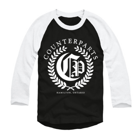 Olive Branch Baseball Tee (Black/White)