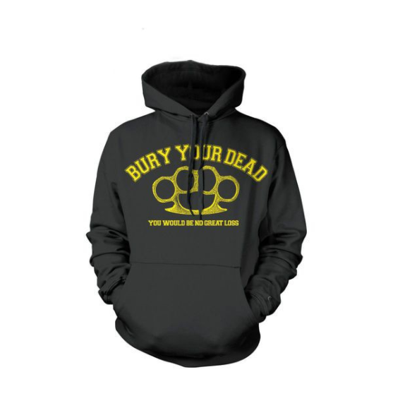 Bury Your Dead Official Merch - Brass Knuckles Hoodie (Black)