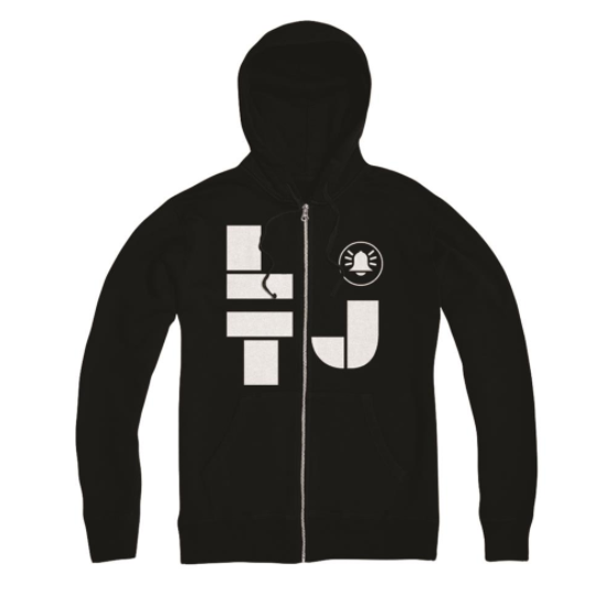 Less Than Jake Official Merch - LTJ Zip Up Hoodie (Black)