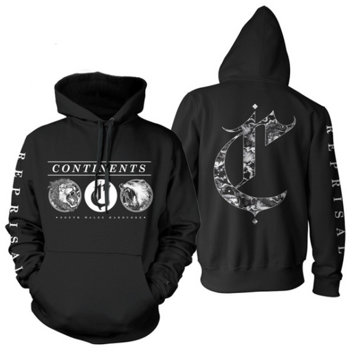 Continents Official Merch - Reprisal Hooded Sweater (Black)