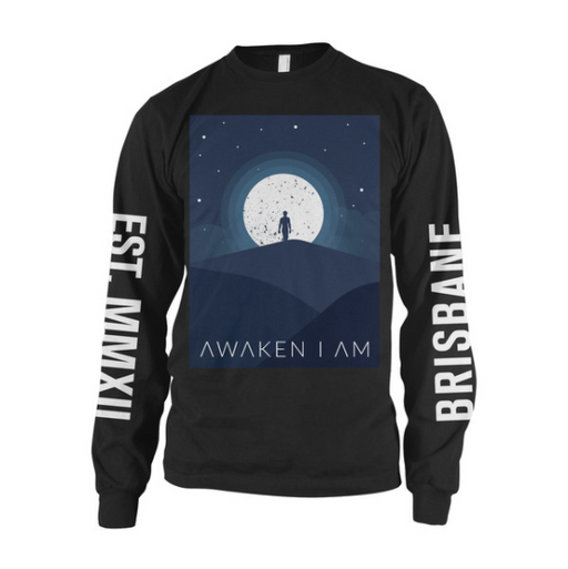 Awaken I Am Official Merch - Moon Long Sleeve (Black)