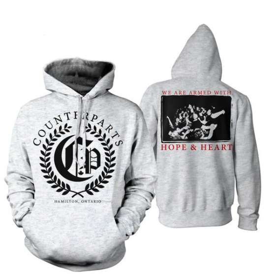 Counterparts Official Merch - Olive Branch Hoodie (Grey)