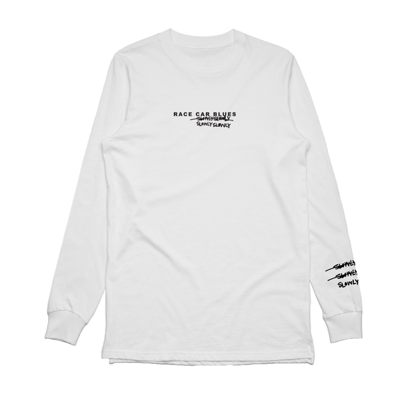Race Car Blues Long Sleeve (White)