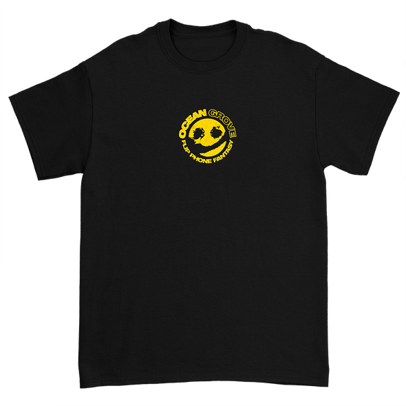 Flip Phone Fantasy Smiley Tee (Black)