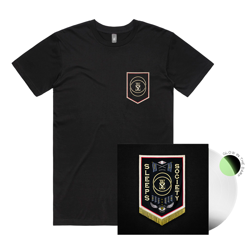 SLEEPS SOCIETY Vinyl + Tee Bundle (Glow In The Dark) // PREORDER