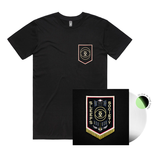 SLEEPS SOCIETY Vinyl + Tee Bundle (Glow In The Dark)