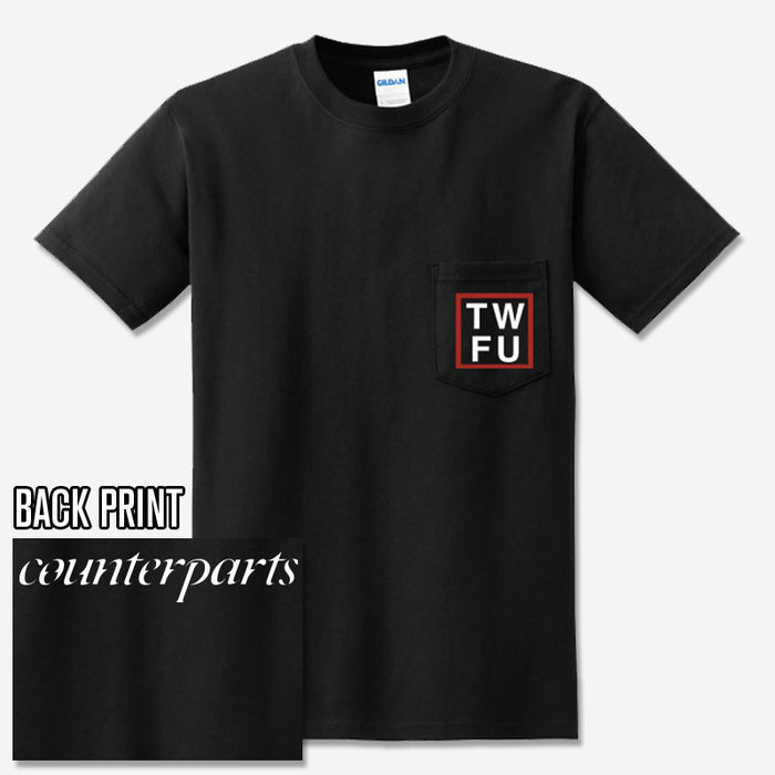 Counterparts Official Merch - TWFU Pocket (Black Tee)