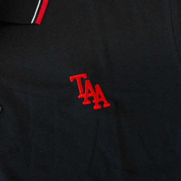 Embroidered Logo Polo Shirt (Black / Red)