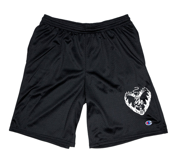 Heart Trap Mesh Shorts (Black)