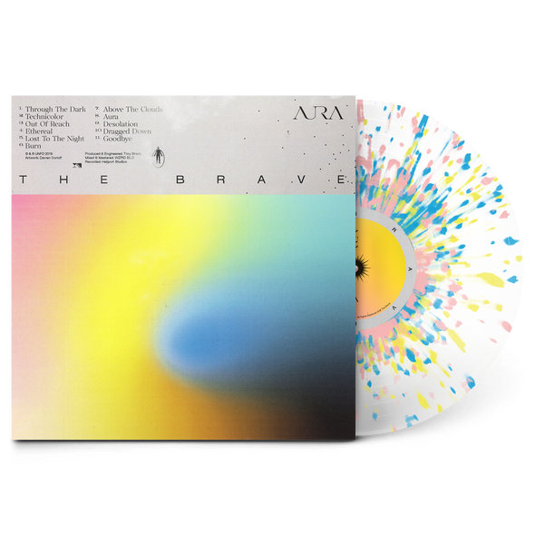 "Aura 12"" Vinyl (Ultra Clear w/ Pink, Blue & Yellow Splatter)"