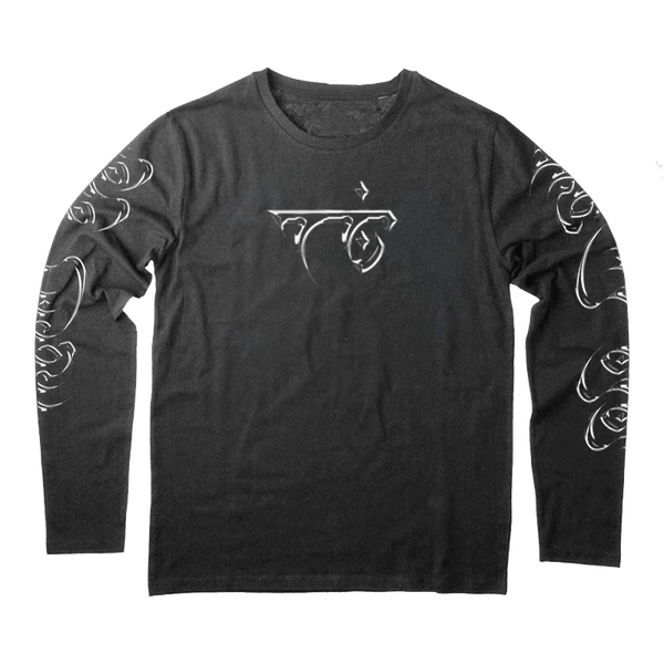 Script Longsleeve (Black Acid Wash)