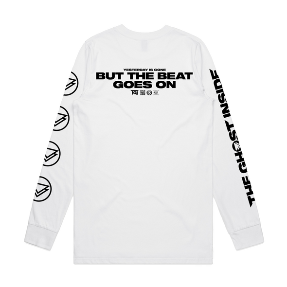 Beat Goes On Longsleeve (White) // PREORDER