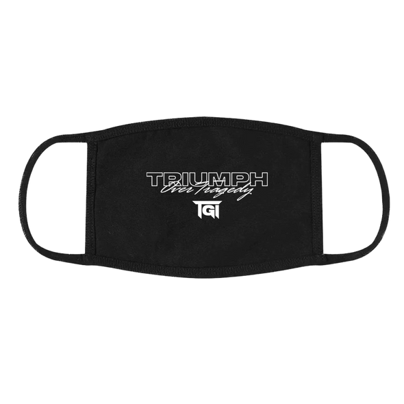 Triumph Over Tragedy Face Mask