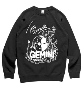 Tash Sultana Official Merch - Gemini Crewneck (Black)