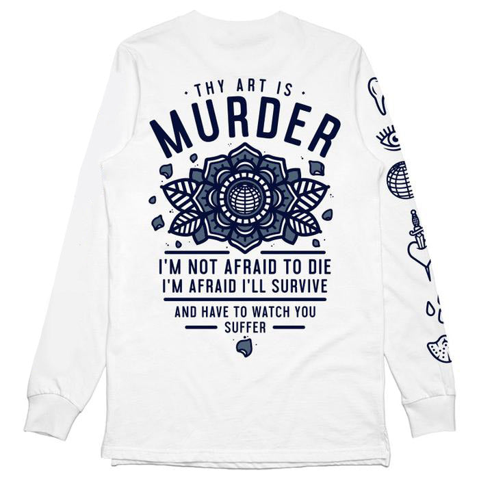 Thy Art Is Murder merch TWKA Long Sleeve (White)
