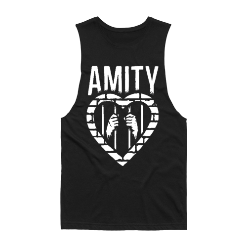 Cage Heart Sleeveless (Black)