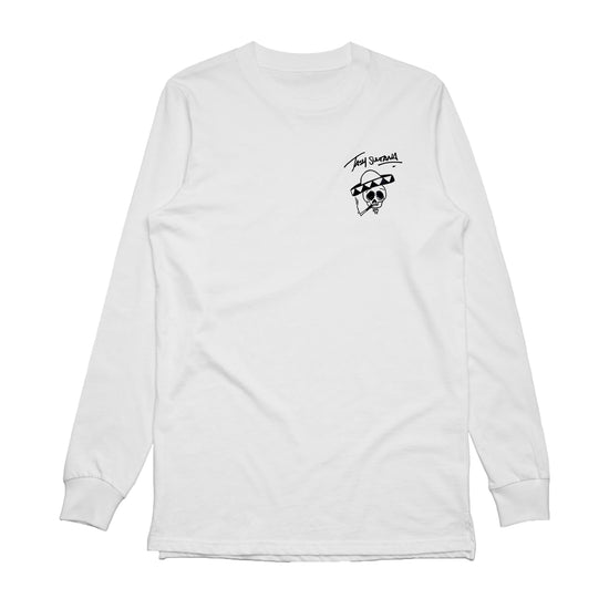 Pocket Skull Tour Longsleeve (White)