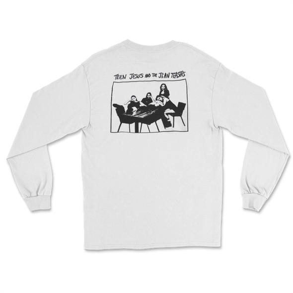 Teen Jesus and the Jean Teasers Longsleeve (White)