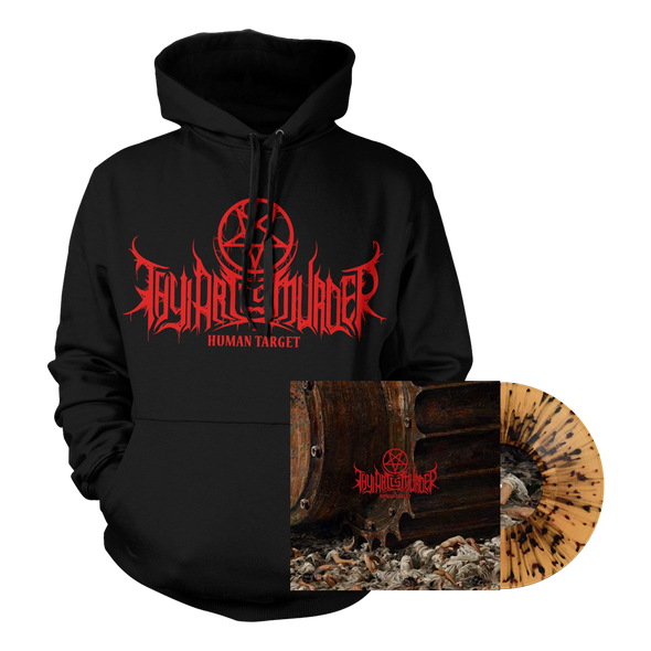 Human Target Vinyl / Hoodie Bundle (Transparent Beer with Black Splatter Vinyl) // PREORDER