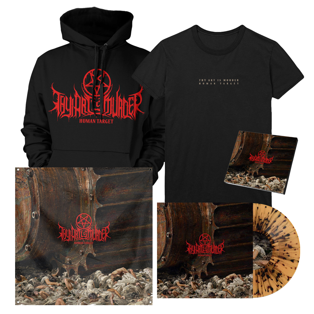 Human Target Cover Art Bundle (Transparent Beer with Black Splatter Vinyl) // PREORDER