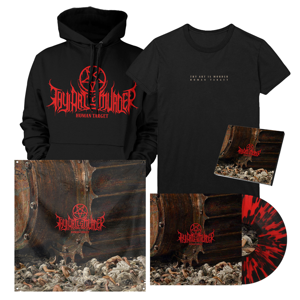 Human Target Cover Art Bundle (Red with heavy Black Splatter Vinyl) // PREORDER