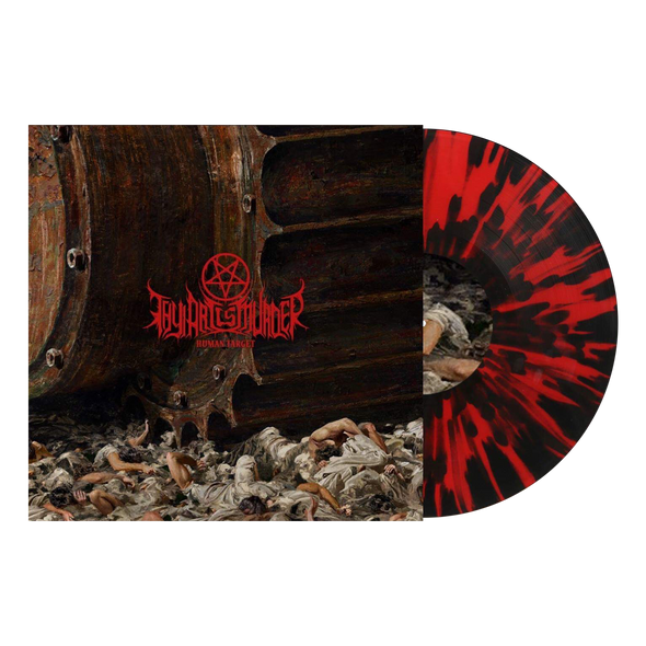 "Human Target 12"" Vinyl (Red with heavy Black Splatter Vinyl) // PREORDER"