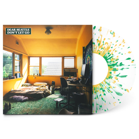 "Don't Let Go 12"" Vinyl (Frosted Clear w/ Green & Mustard Splatter)"