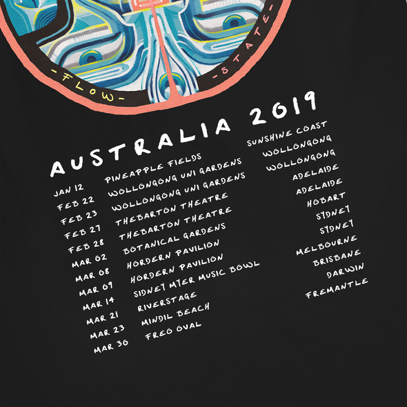 Flow State 2019 Australia Tour Tee (Black)