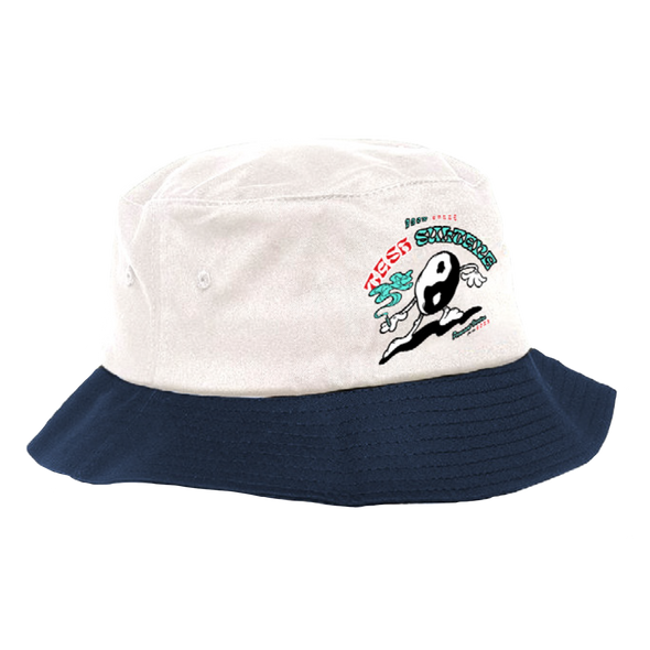 Yin Yang Man Bucket Hat (Blue)