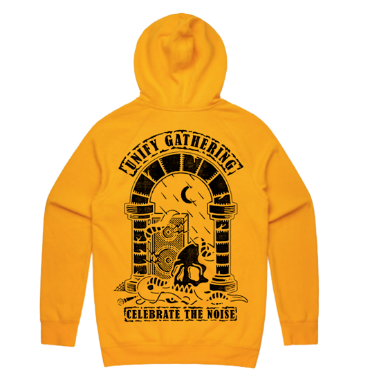 Celebrate The Noise Skull Hoodie (Yellow)