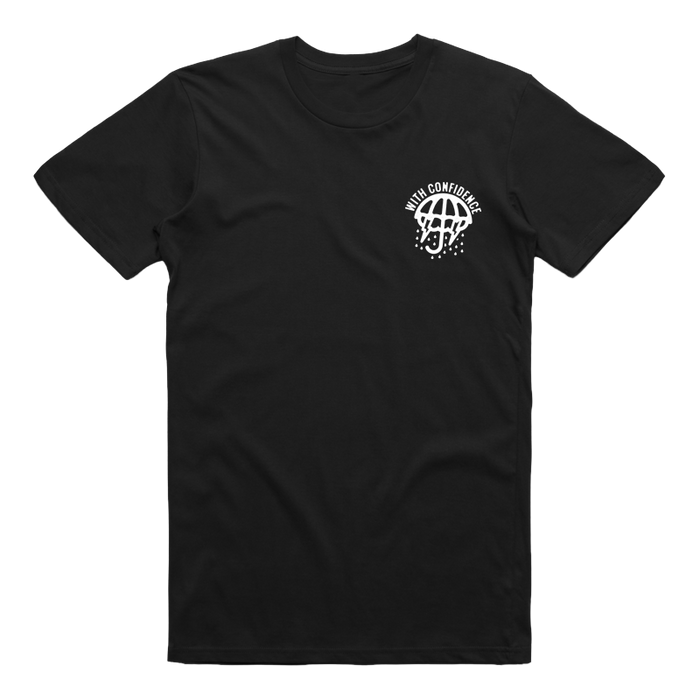With Confidence Official Merch - Despite The Weather Tee (Black)
