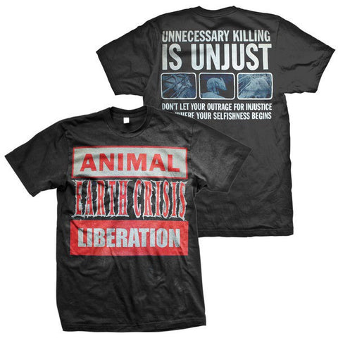 Earth Crisis Official Merch - Animal Liberation (Black Tee)