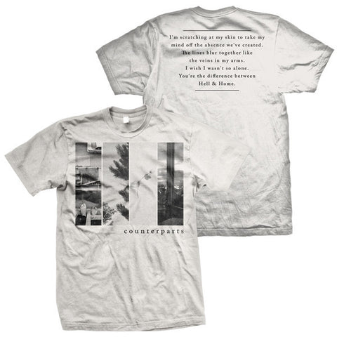 Counterparts Official Merch - The Difference Between Hell and Home (White Tee)