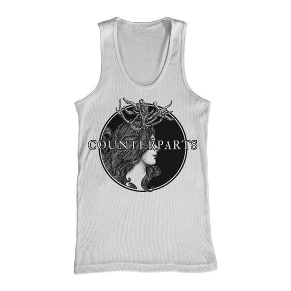 Counterparts Official Merch - Antlers (White Tank)