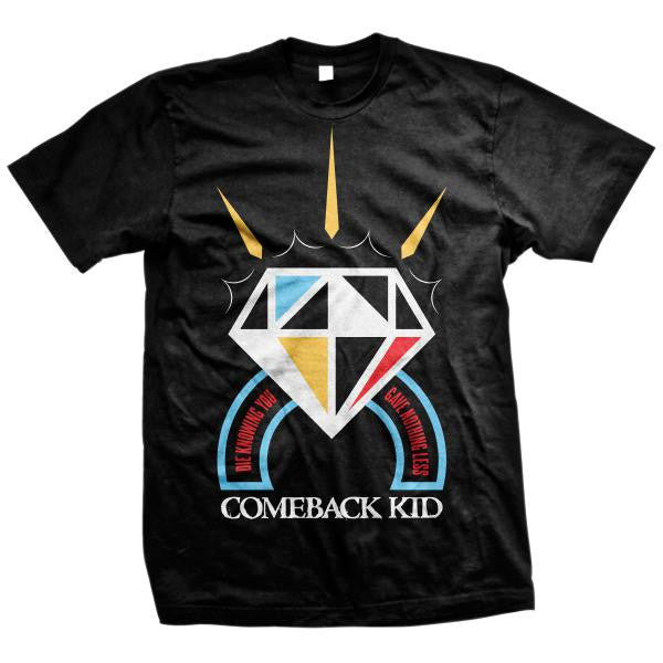Comeback Kid Official Merch - Diamond (Black Tee)