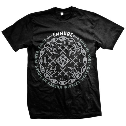 Emmure Official Merch - Money, Power, Fame (Black Tee)